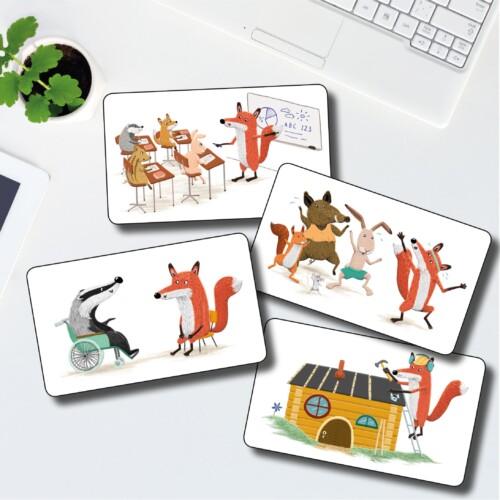 Kortlek: Rävar som jobbar