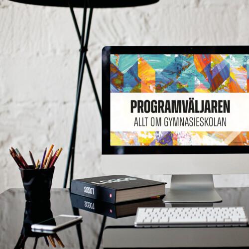 Presentaionen Programväljaren på en datorskärm