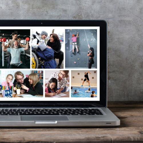 Bild på dator med digitala Programväljarkort